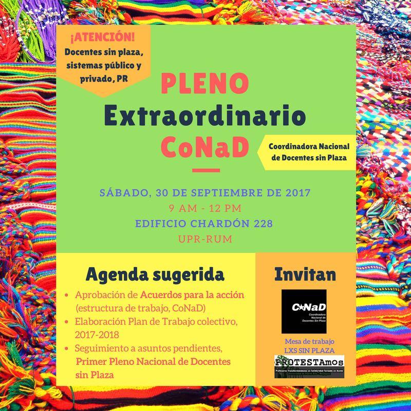 Pleno Docentes Sin Plaza_30 septiembre_2017
