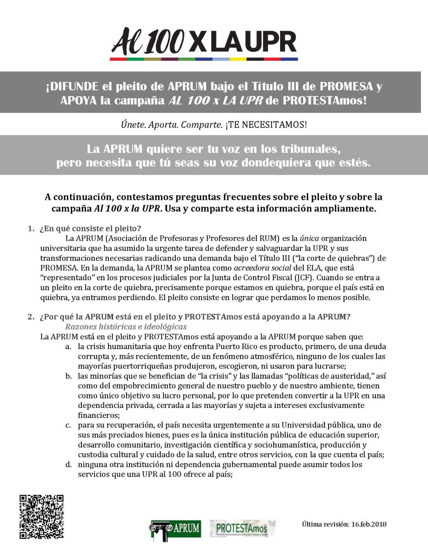 Respuestas a preguntas frecuentes_Pleito APRUM y Al 100 x la UPR PROTESTAmos_Page_1